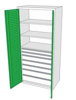 Dílenské skříně DSP 92 1_2x2_3x3_2x4