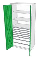 Dílenské skříně DSP 92 1_5x2_1x3_2x4