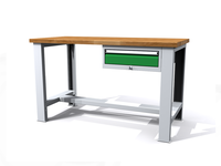 Stůl do dílny - šířka 1500 mm, 1 kontejner: 1 zásuvka