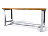 Základní dílenský stůl - šířka 2000 mm, pevné nohy