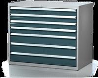 Dílenské zásuvkové skříně 17U - š 1014 x h 600 mm DKP 5427 17U 7AB