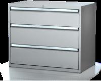 Dílenské zásuvkové skříně 17U - š 1014 x h 750 mm DKP 5436 17U 3