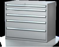 Dílenské zásuvkové skříně 17U - š 1014 x h 750 mm DKP 5436 17U 6