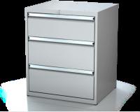 Dílenské zásuvkové skříně 17U - š 710 x h 600 mm DKP 3627 17U 3