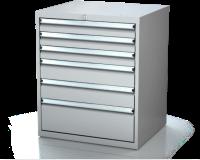 Dílenské zásuvkové skříně 17U - š 710 x h 600 mm DKP 3627 17U 6