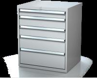 Dílenské zásuvkové skříně 17U - š 710 x h 750 mm DKP 3636 17U 5