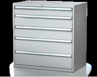 Dílenské zásuvkové skříně 21U - š 1014 x h 750 mm DKP 5436 21U 4