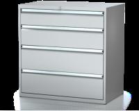 Dílenské zásuvkové skříně 21U - š 1014 x h 750 mm DKP 5436 21U 5