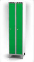 Kovové šatní skříňky na nohách - dvouplášťové dveře AN 25 2 1 S