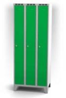 Kovové šatní skříňky na nohách - dvouplášťové dveře AN 25 3 1 S