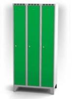 Kovové šatní skříňky na nohách - dvouplášťové dveře AN 30 3 1 S