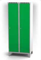 Kovové šatní skříňky na nohách - dvouplášťové dveře AN 40 2 1 S