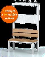 Šatní lavice s věšáky (5 velkých a 10 malých)