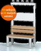 Šatní lavice s věšáky (10 velkých a 20 malých)