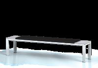 Šatnová lavice s čalouněným sedákem - výška 420 mm