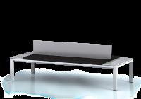 Šatnová lavice s čalouněným sedákem - výška 460 mm