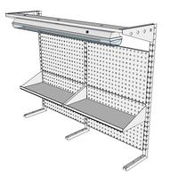 Nástavby dílenských stolů NAS_15_2P300_OT