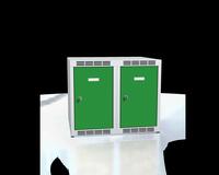 Nástavec na šatní skříňky, šířka / počet oddělení: 300 mm / 2
