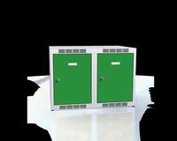 Nástavec na šatní skříňky, šířka / počet oddělení: 350 mm / 2
