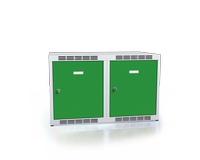 Nástavec na šatní skříňky, šířka / počet oddělení: 400 mm / 2