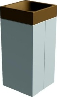Odpadkový koš - beton-kov MM800055
