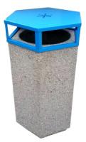 Odpadkový koš - beton-ocel MM800216a
