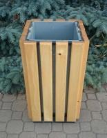 Odpadkový koš - ocel-dřevo CURYCH_10S