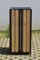 Odpadkový koš - ocel-dřevo DUBLIN_10