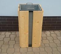 Odpadkový koš - ocel-dřevo HAVANA_10