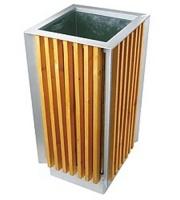 Odpadkový koš - ocel-dřevo MM700169