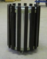 Odpadkový koš - ocel-dřevo MM700176