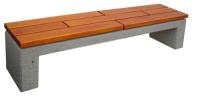 Parková lavička - beton-dřevo MM800046