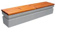 Parková lavička - beton-dřevo MM800050