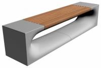 Parková lavička - beton-dřevo MM800052