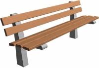 Parková lavička - beton-dřevo MM800082