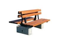 Parková lavička - beton-dřevo MM800287