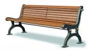 Parková lavička - hliník-dřevo MM700232