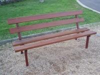 Parková lavička - ocel-dřevo MM700114