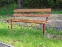 Parková lavička - ocel-dřevo MM700115