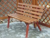 Parková lavička - ocel-dřevo MM700116