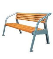 Parková lavička - ocel-dřevo MM700187