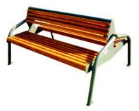 Parková lavička - ocel-dřevo MM700188