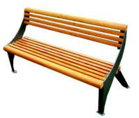 Parková lavička - ocel-dřevo MM700189