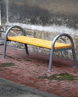 Parková lavička - ocel-dřevo MM700193