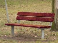 Parková lavička - ocel-dřevo MM700206