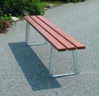 Parková lavička - ocel-dřevo MM700229