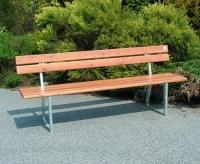 Parková lavička - ocel-dřevo MM700230