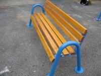 Parková lavička - ocel-dřevo MM700290