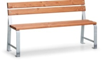 Parková lavička - ocel-dřevo MM700409