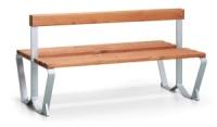 Parková lavička - ocel-dřevo MM700410